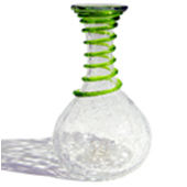 Blenko Cracked Crystal Carafe with turbo Wrap