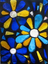 dalle de verre stained art glass window pannel brickdaisy