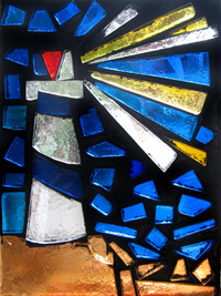 dalle de verre stained art glass lighthouse