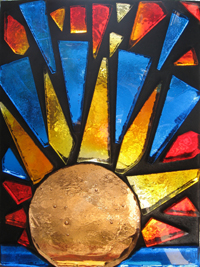 dalle de verdi art glass sun