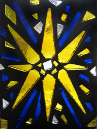 dalle de verre stained art glass yellow splash