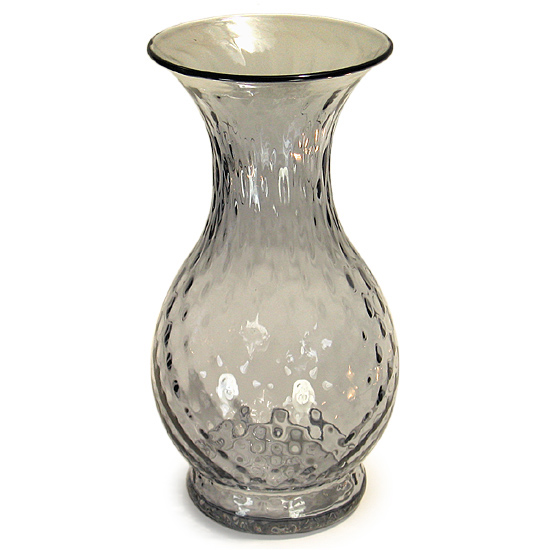 Blenko Opaque Opic Grey Vase