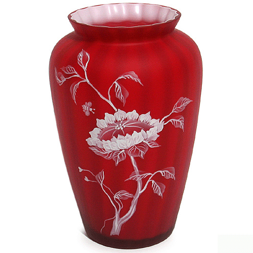 Fenton Sun Flower Vase Connoisseur Collection